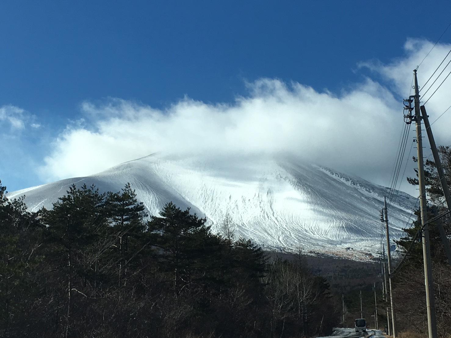 白メガネ浅間山